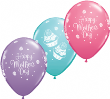 Mothers Day Cupcakes - 11 Inch Balloons (25pcs)
